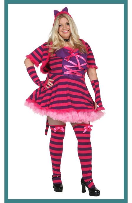 Plus Size Womens Wonderland Cat Costume