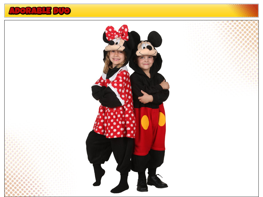 Mickey Mouse and Minnie Mouse Kids Costumes