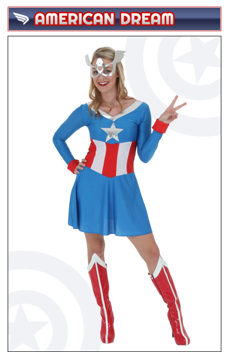 Womens American Dream Captain America Costume