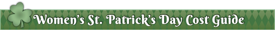 Womens St Patricks Day Cost Guide Banner