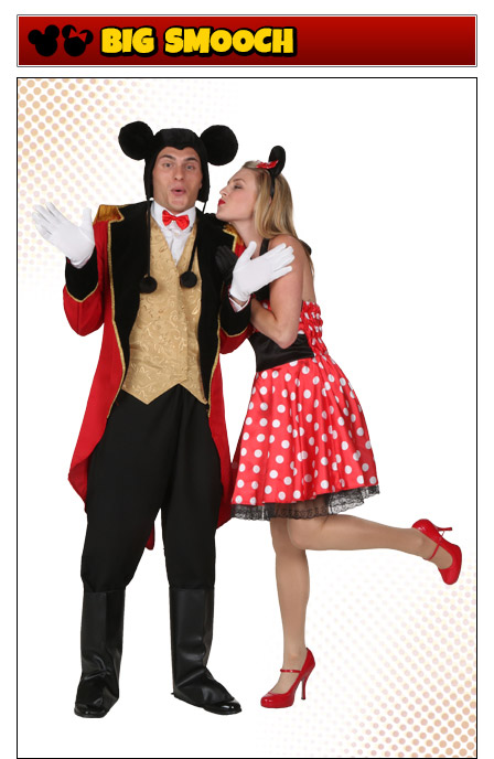 Mickey Mouse and Minnie Mouse Romantic Couples Costume