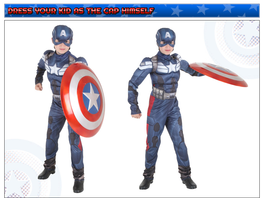 Kids Captain America 2 Costume