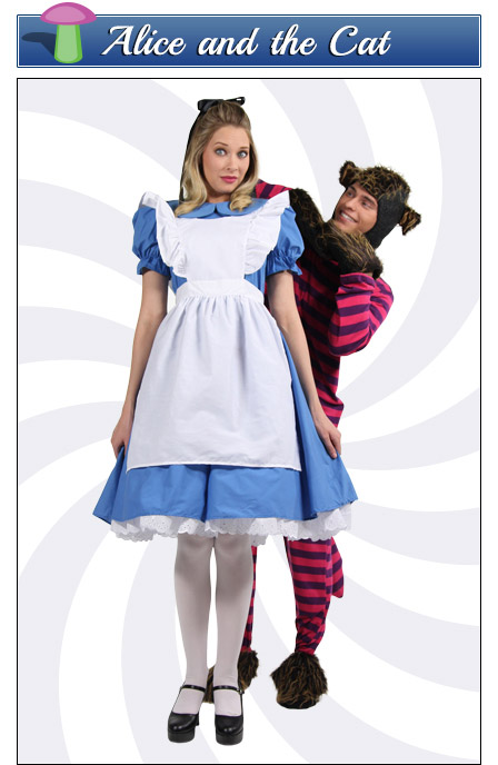 Alice and the Cheshire Cat Couples Costume