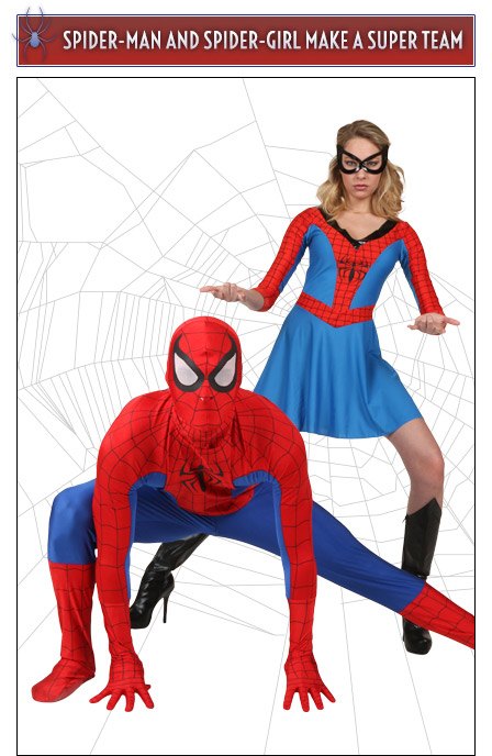 spider man and spider girl couples costume - Spider Girl Halloween Costumes