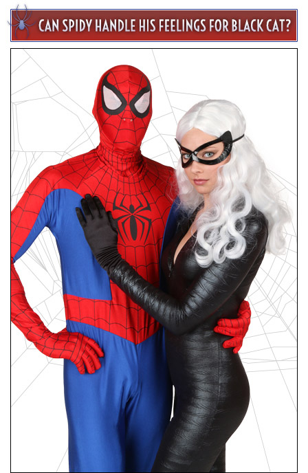 spiderman and black cat couples costume