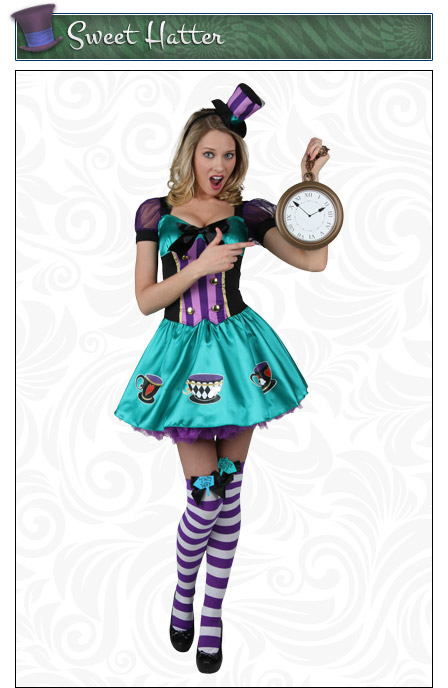 Womens Sweet Mad Hatter Costume