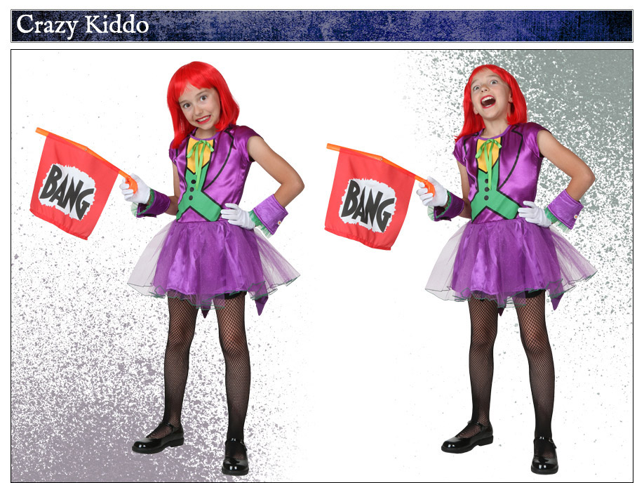 child girls joker costume - Joker Halloween Costume Kids