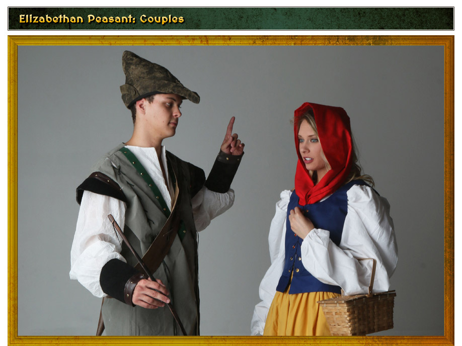 Elizabethan Peasant Couples Costume Idea