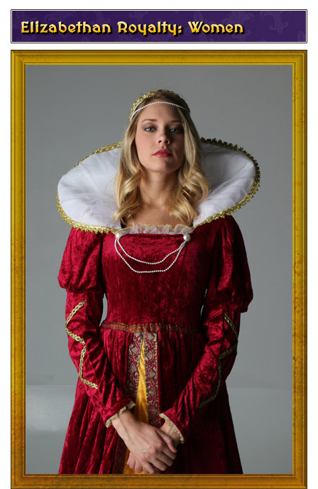 Elizabethan Royalty Womens Renaissance Costume
