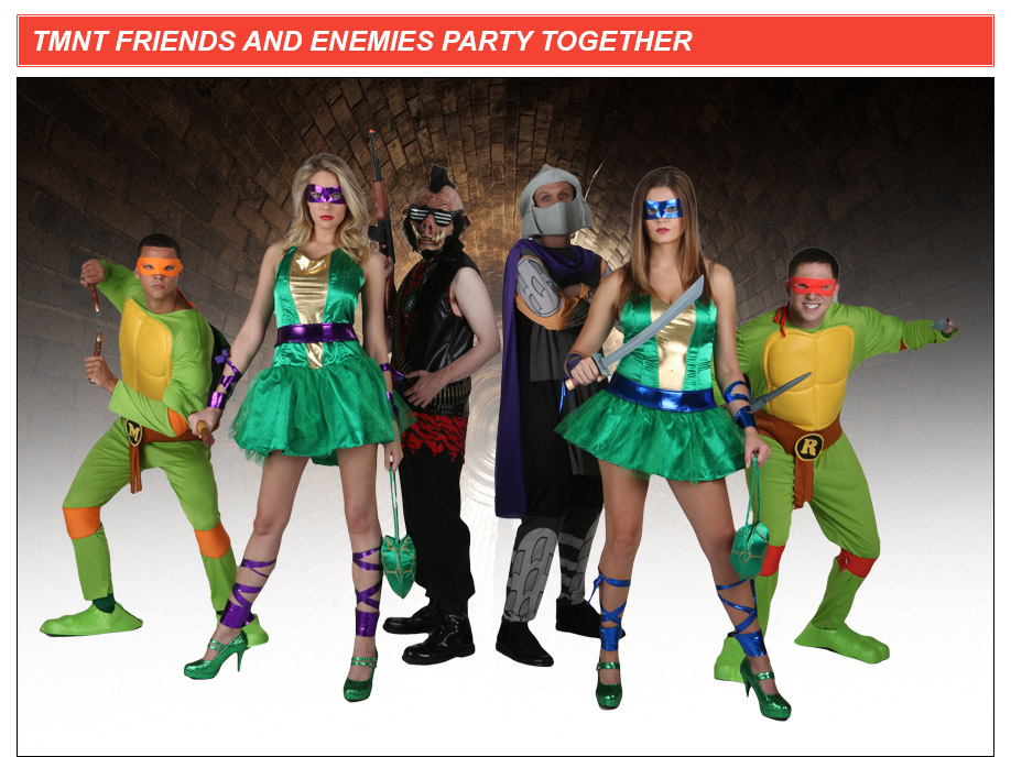 tmnt friends group costume idea