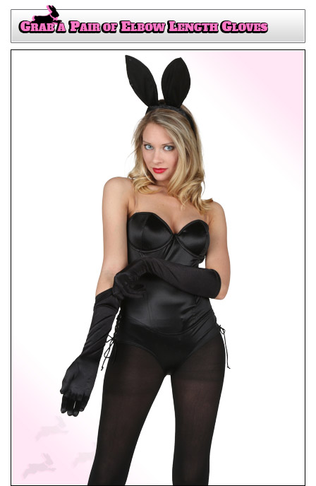 Playboy Bunny Costume Coverage - Add Gloves