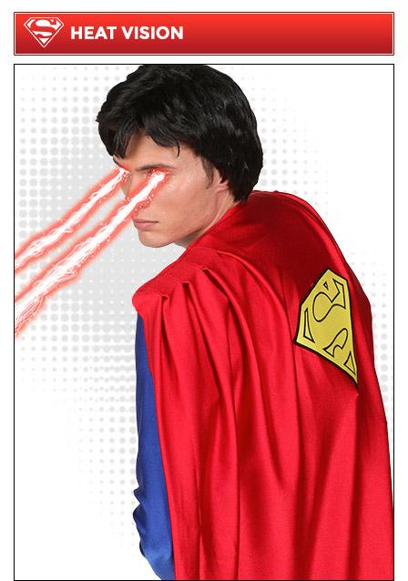 Superman Poses Heat Vision