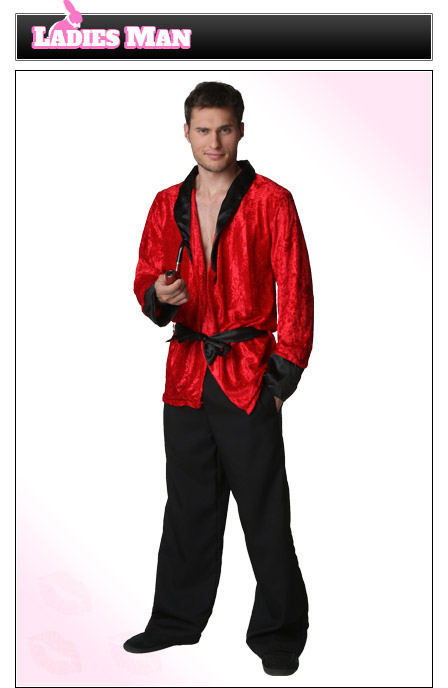 Mens Hugh Hefner Costume