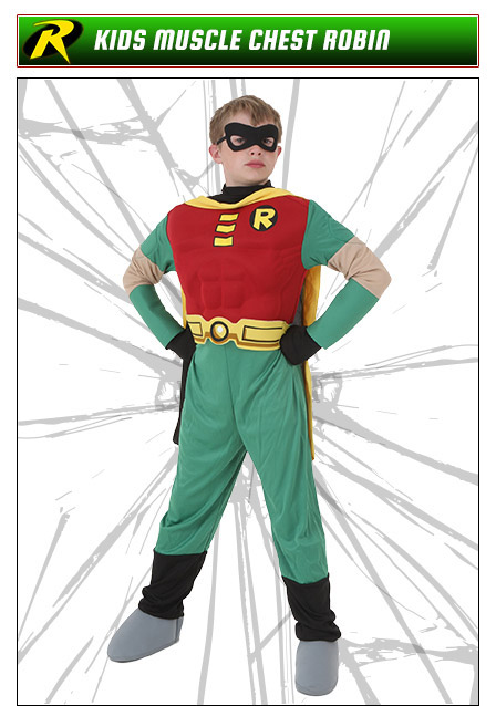 Kids Muscle Chest Robin Costume