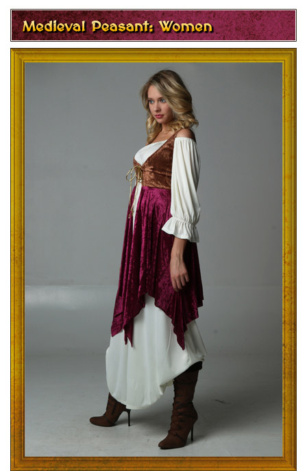 Womens Medieval Peasant Renaissance Costume Idea