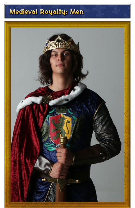 Medieval Royalty Mens Renaissance Costume