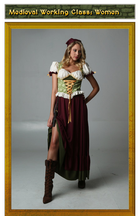 Medieval Working Class Womens Renaissance Costume
