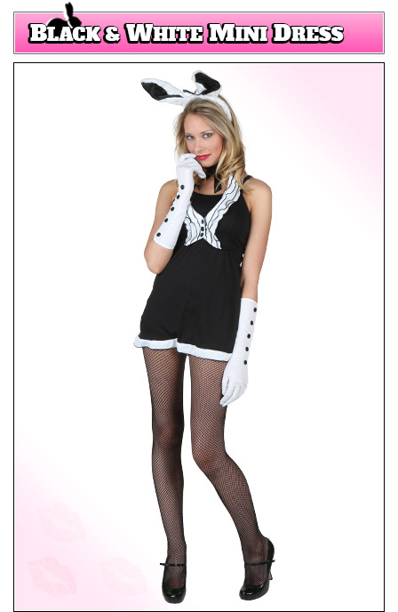 Playboy Bunny Costume with Mini Dress Design
