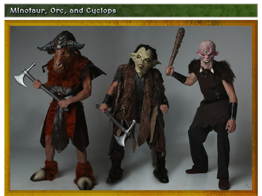 Minotaur, Orc and Cyclops Costumes