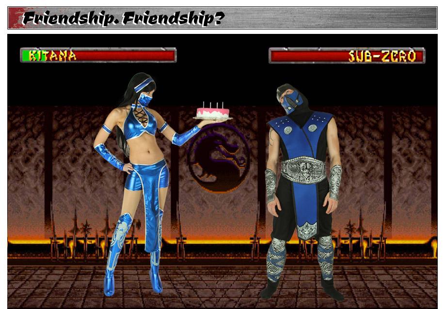 Mortal Kombat Kitana and Sub Zero Costumes