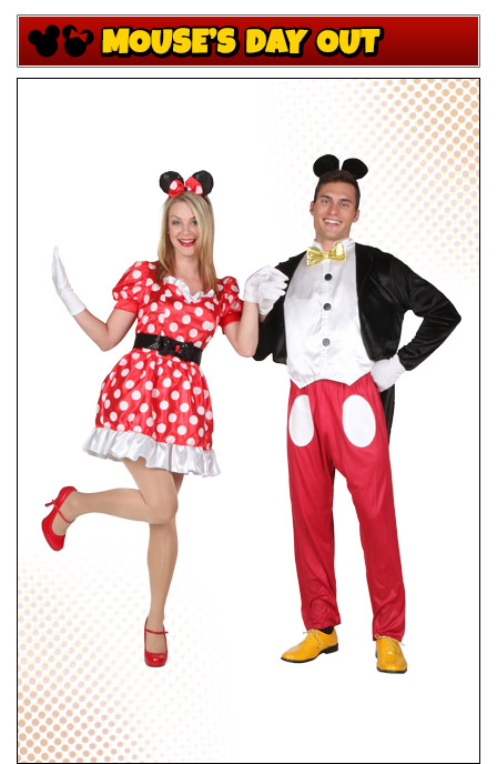 Classic Mickey and Minnie Mouse Couples Costume