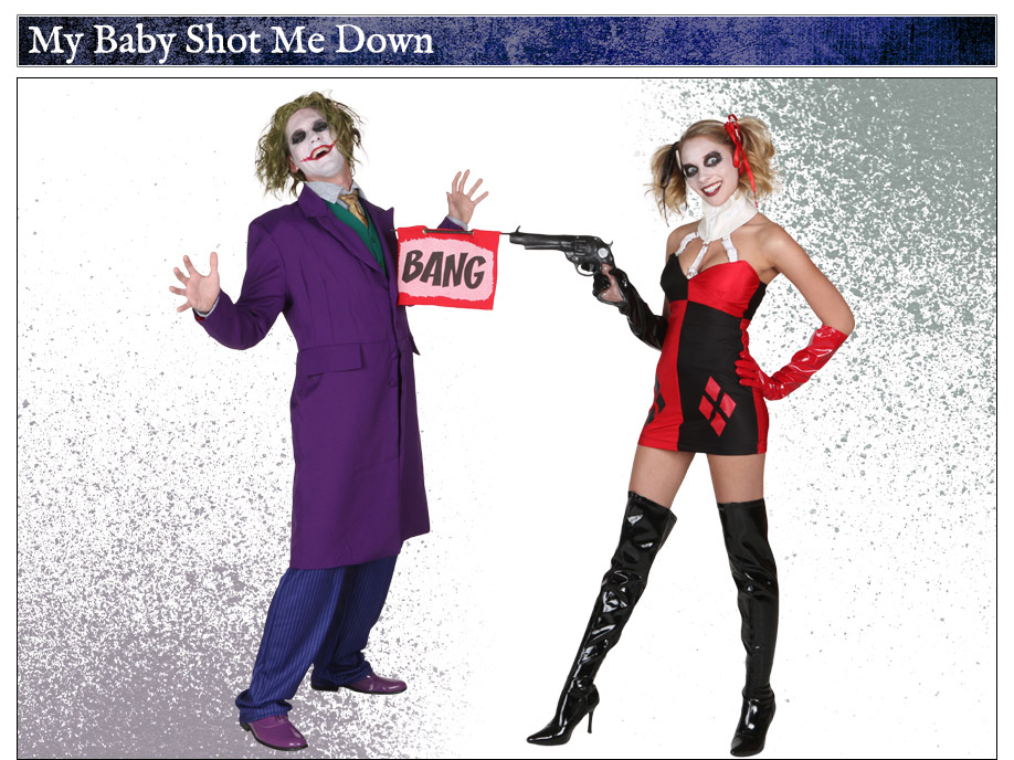 joker and harley quinn couple costume idea - The Joker And Harley Quinn Halloween Costumes