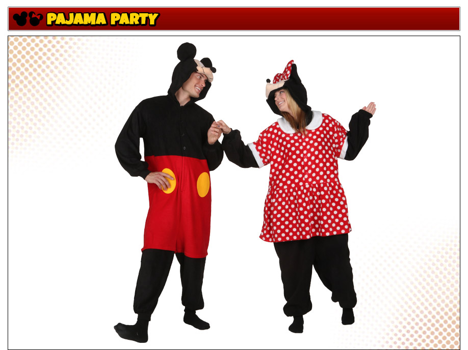 Mickey and Minnie Mouse Pajama Costumes