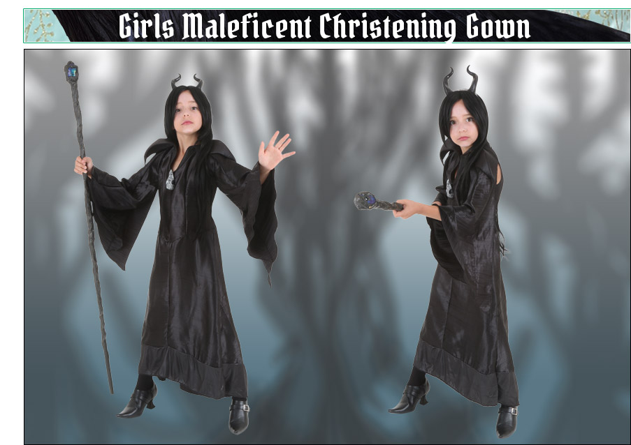 Maleficent Christening Gown Costume for Girls