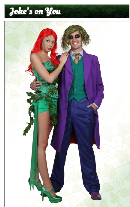 Poison Ivy and The Joker Couples Costume