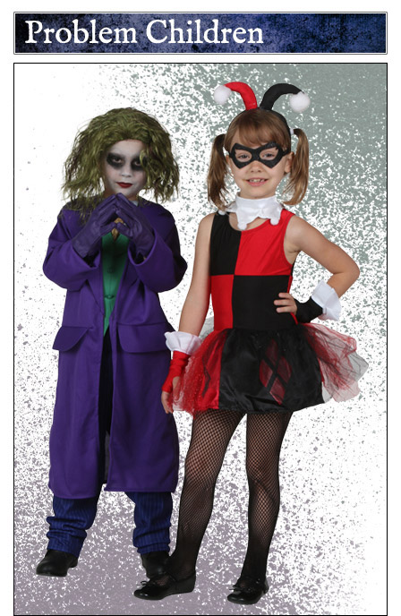child joker and harley quinn costumes - Joker Halloween Costume Kids