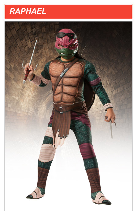 Kids Raphael TMNT Movie Costume