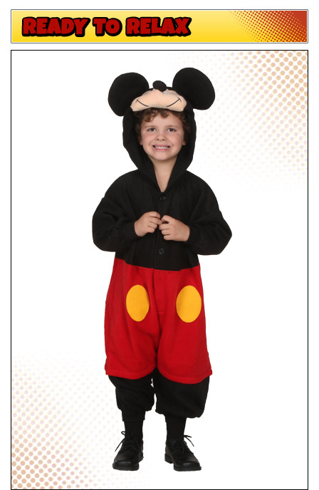 Boys Mickey Mouse Pajama Costume