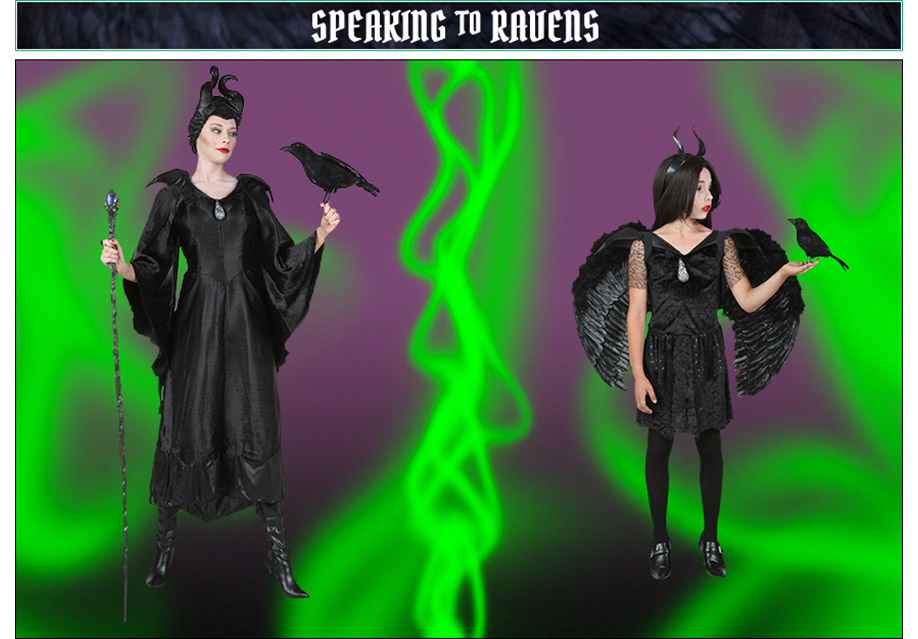 Speaing to Ravens Maleficent Poses