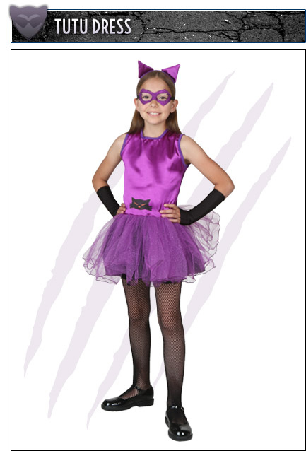 Girls Tutu Catwoman Costume