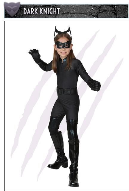 Girls Dark Knight Catwoman Costume