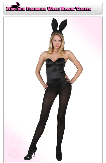 Playboy Bunny Costume Coverage - Add Tights