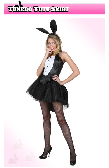 Playboy Bunny Costume with Tutu Skirt