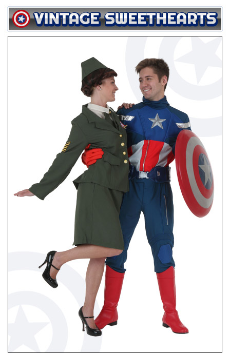 Captain America and Peggy Carter Couples Costume