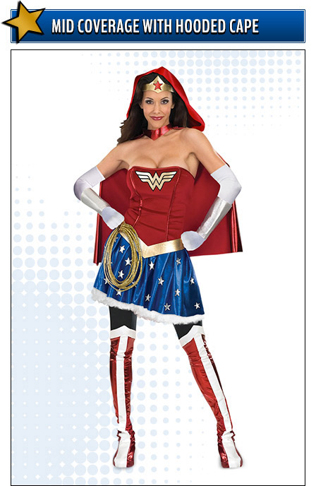 Wonder Woman Costume with Hooded Cape