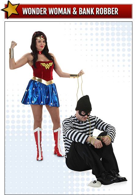 Wonder Woman and Bank Robber Costumes