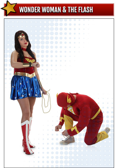 Wonder Woman and the Flash Couples Costumes