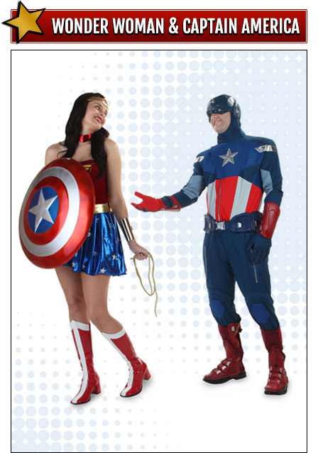 Wonder Woman and Captain America Costumes