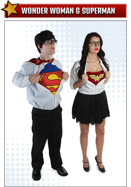 Wonder Woman and Superman Costumes