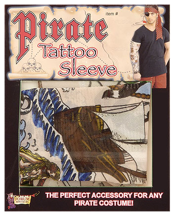 Pirate Tattoo Sleeve Accessory - Fake Tattoos Full Arm
