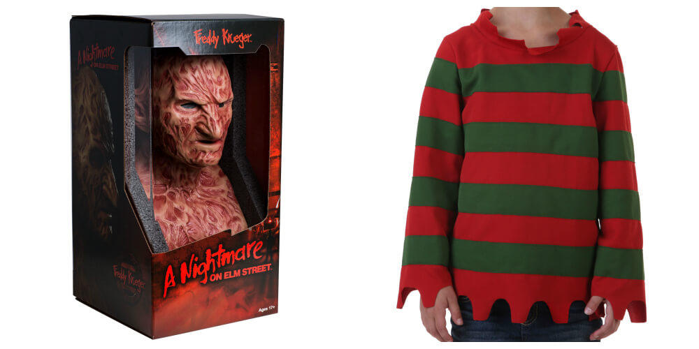 Freddy Krueger mask and sweater