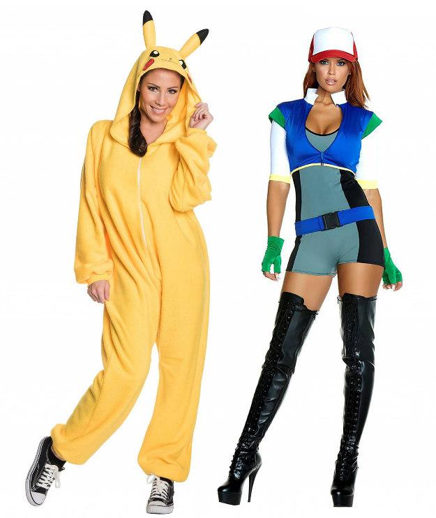 Women's Pokémon Costumes: Pikachu and Ash