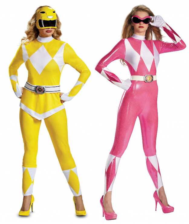 Power Rangers Costumes: Yellow and Pink Rangers