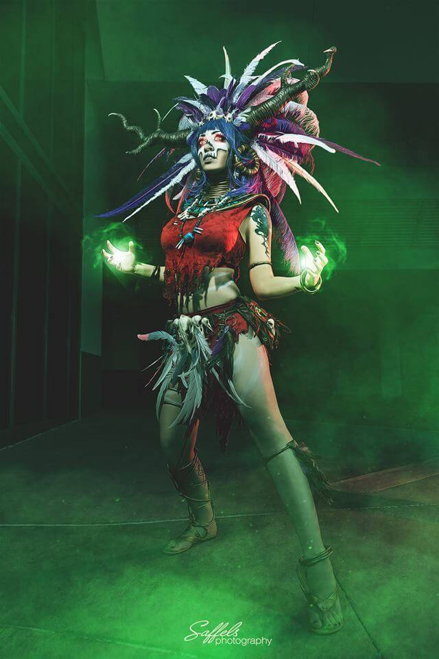 Vivid Vivka as the Diablo 3 Witch Doctor