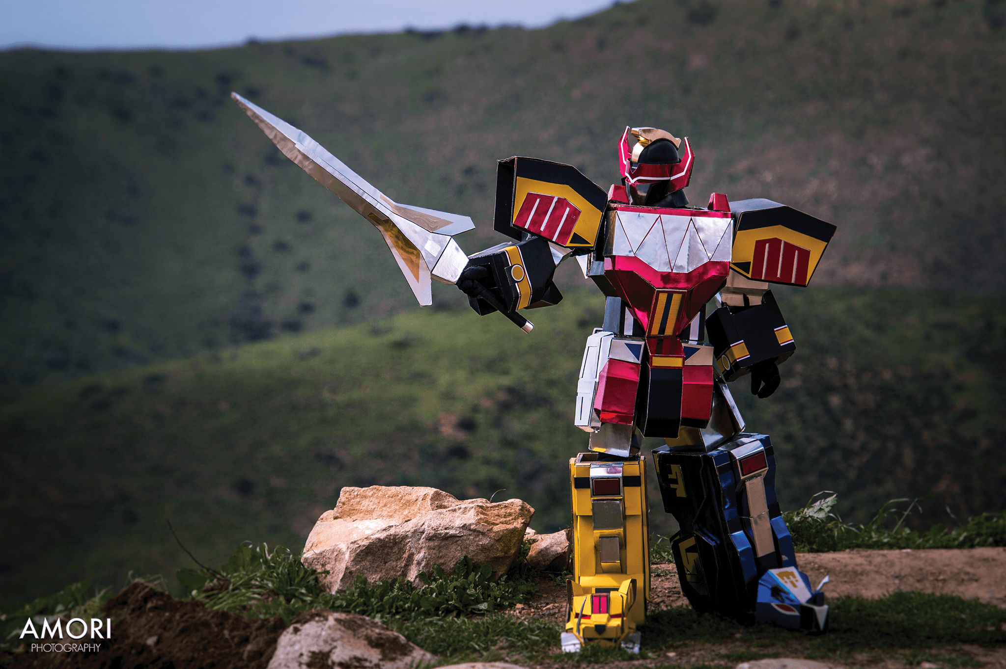 d-slim as the Dino Megazord