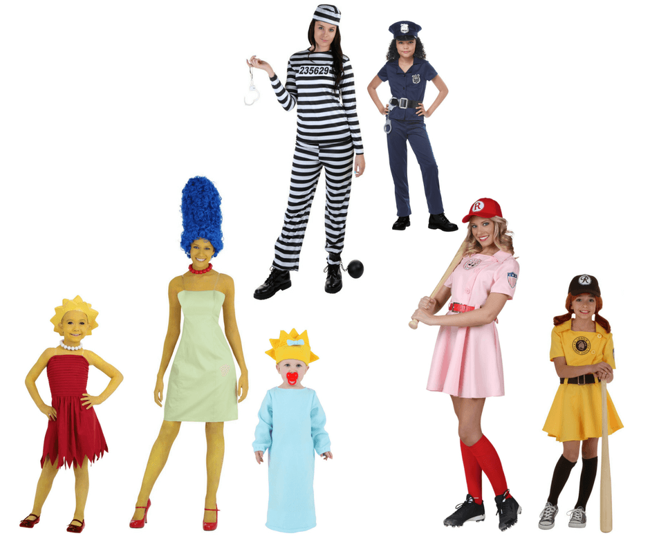 Halloween costumes for mothers with multiple daughters